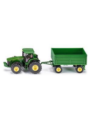 Трактор с прицепом (1:50) SIKU. Цвет: зеленый, салатовый
