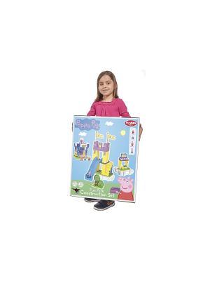 Конструктор Парк развлечений Peppa Pig, 126 дет., 4/4 BIG. Цвет: голубой, розовый, желтый, зеленый