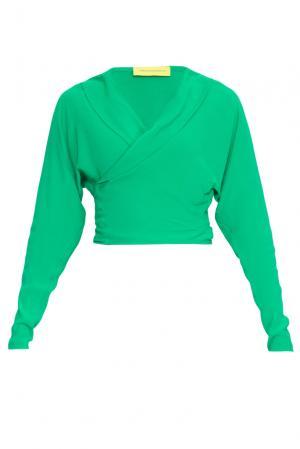 Блуза из вискозы 162611 Cyrille Gassiline. Цвет: зеленый