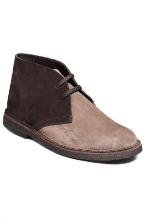 Ботинки Del Re. Цвет: brown and beige