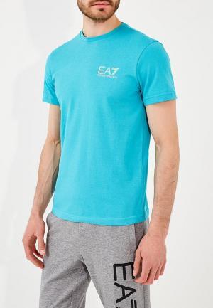 Футболка EA7. Цвет: бирюзовый