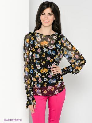 Блузка SUGARLIFE. Цвет: черный, зеленый, голубой, оранжевый