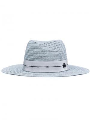 Шляпа-федора Maison Michel. Цвет: синий