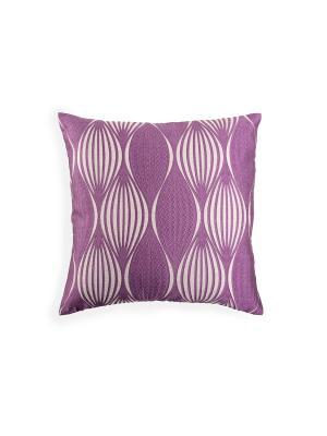 Декоративная наволочка 40х40 см фиолетовая на молнии Energy WESS. Цвет: серый, фиолетовый