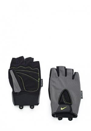 Перчатки для фитнеса Nike. Цвет: серый