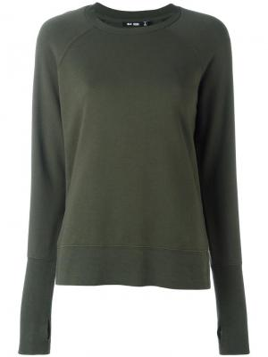 Crew neck sweatshirt Blk Dnm. Цвет: зелёный