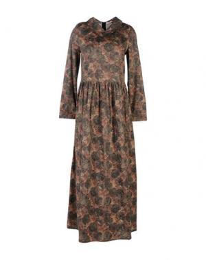 Длинное платье WETPAINT. Цвет: зеленый