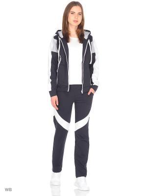 Спортивный костюм FORLIFE. Цвет: темно-серый, белый, серый