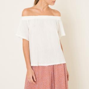 Блузка с оборками HARTFORD. Цвет: экрю