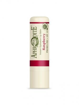 Защитный бальзам для губ с ароматом малины Aphrodite. Цвет: оливковый