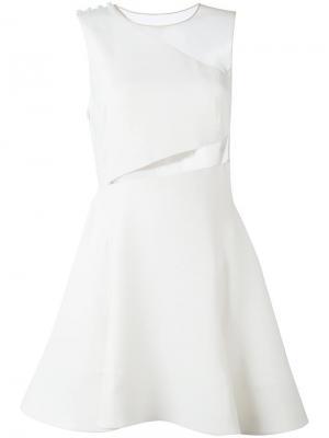 Расклешенное платье с вырезными деталями Zuhair Murad. Цвет: белый