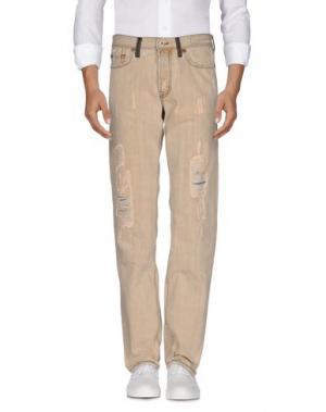 Джинсовые брюки RA-RE. Цвет: бежевый