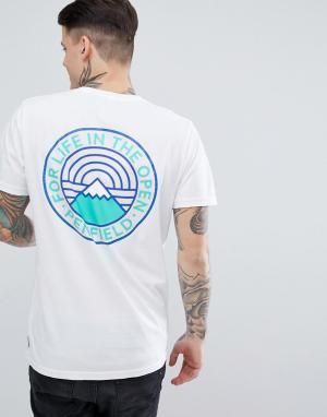 Penfield Белая футболка классического кроя с принтом на спине Feldman. Цвет: белый