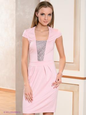 Платье V&V. Цвет: бледно-розовый