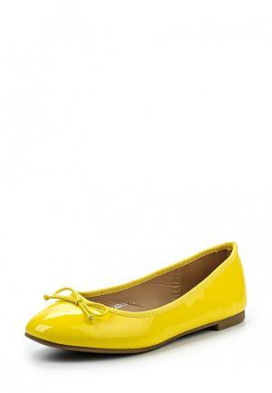 Балетки La Bottine Souriante. Цвет: желтый
