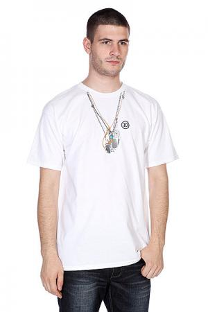 Футболка  Brians Necklaces White 3D. Цвет: белый