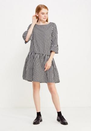 Платье Tom Tailor Denim. Цвет: черно-белый