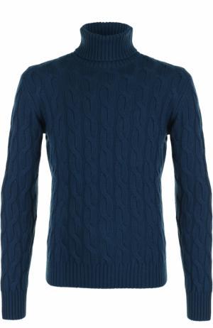 Шерстяной свитер с горлом Cruciani. Цвет: бирюзовый