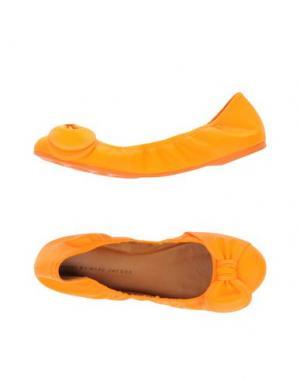 Балетки MARC BY JACOBS. Цвет: оранжевый