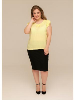 Блузка ORHIDEA. Цвет: желтый
