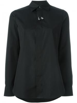 Декорированная рубашка Dsquared2. Цвет: чёрный