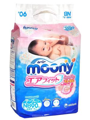 Подгузники MOONY для новорожденных (до 5 кг.), 90 шт.. Цвет: синий