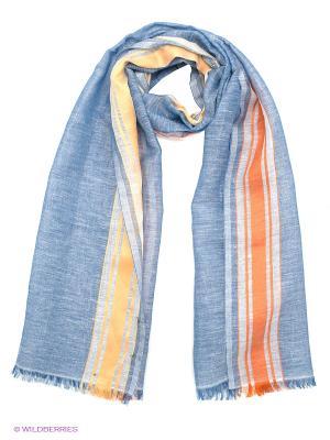 Платок Venera. Цвет: синий, оранжевый, желтый