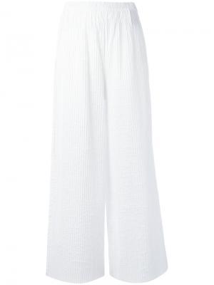 Wide leg trousers Federica Tosi. Цвет: белый