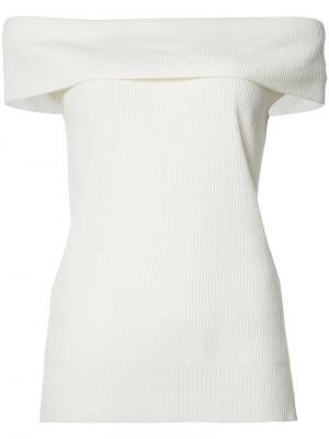 Off shoulder knit top Veronica Beard. Цвет: белый