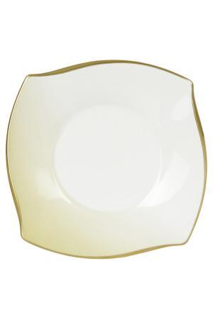 Набор тарелок 16 см Narumi. Цвет: золотой