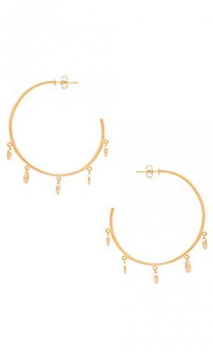 Mini disc hoops Melanie Auld. Цвет: металлический золотой