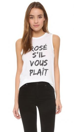 Майка без рукавов Rose Sil Vous Plait South Parade. Цвет: белый