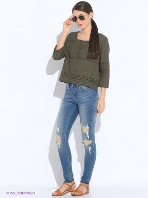 Блузка Vero moda. Цвет: хаки