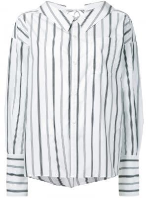 Striped bow detail shirt G.V.G.V.. Цвет: белый