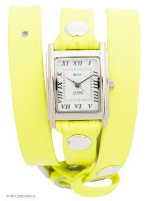 Часы La Mer Collections. Цвет: желтый, серебристый