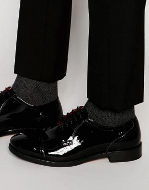Base London Кожаные туфли дерби XXI Oscar. Цвет: черный