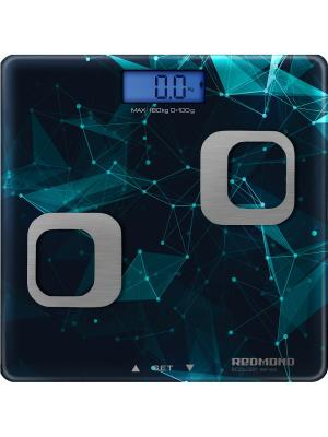 Весы напольные REDMOND RS-738 (Синий). Цвет: синий, серебристый