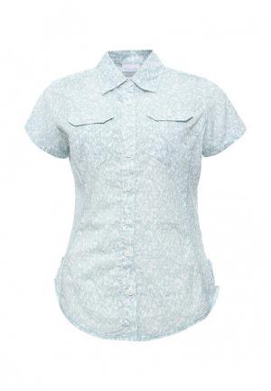 Рубашка Columbia. Цвет: голубой