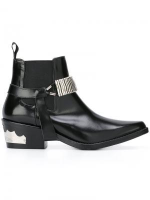 Ботинки в стиле вестерн Toga. Цвет: чёрный