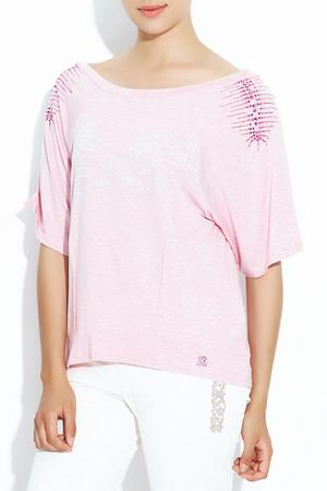 Блузка Sassofono. Цвет: розовый