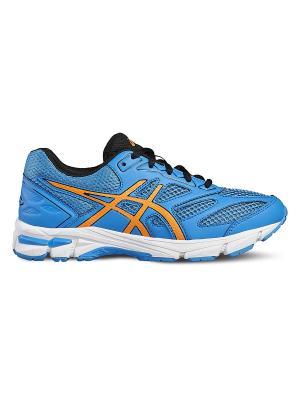 Спортивная обувь GEL-PULSE 8 GS ASICS. Цвет: голубой, оранжевый, черный