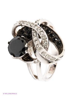Кольцо Krikos. Цвет: черный, серебристый