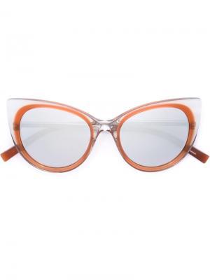 Солнцезащитные очки с оправой кошачий глаз Jil Sander. Цвет: коричневый