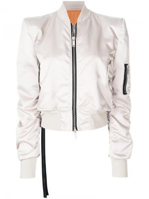 Куртка-бомбер на молнии Unravel Project. Цвет: телесный