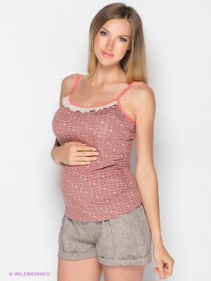 Топ для беременных ФЭСТ. Цвет: бежевый, розовый