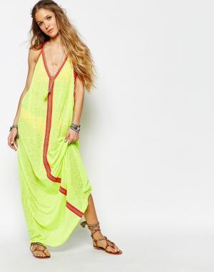 Pitusa Пляжное платье Inca. Цвет: лимонный