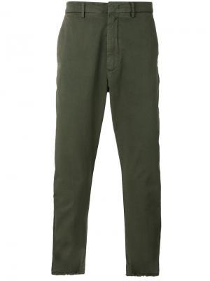 Укороченные брюки Baldo Pence. Цвет: зелёный