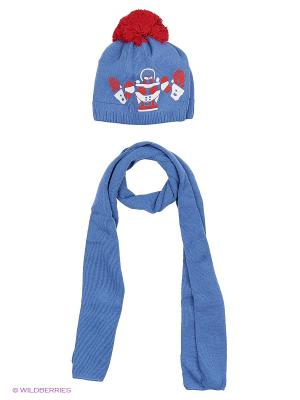 Шапка и шарф Agbo. Цвет: красный, синий