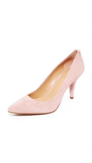 Туфли-лодочки Flex на каблуке средней высоты MICHAEL Kors. Цвет: розовый