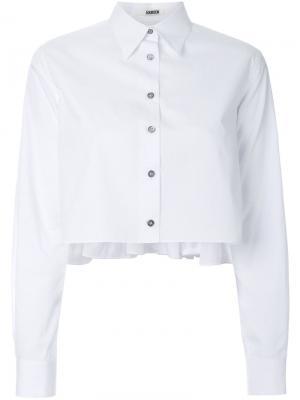 Укороченная рубашка Jourden. Цвет: белый